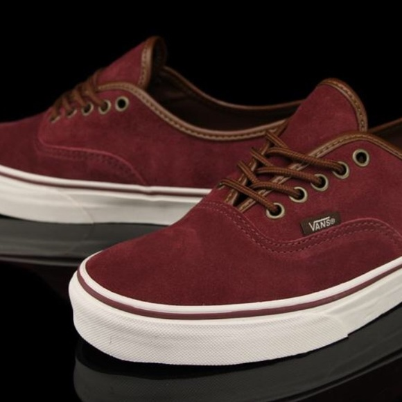 Vans Suede Maroon Authentic shoes men 10 skate